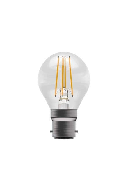 BELL 05310 4W LED Dimmable Filament Round BC Clear 2700K